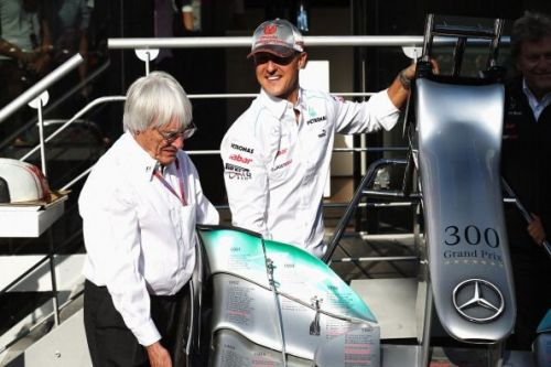 One of motorsport's greatest drivers of all time with Bernie Ecclestone