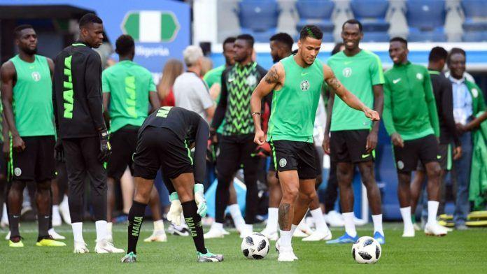 The Nigerian Super Eagles train ahead of their friendly against Senegal.