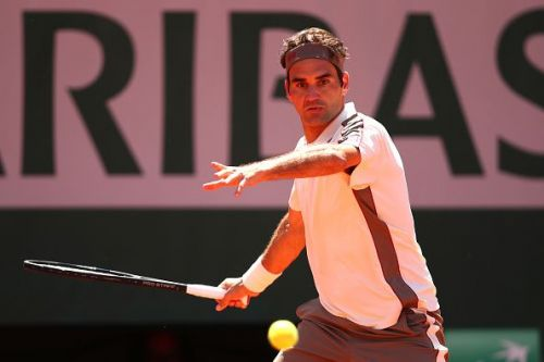 2019 French Open - Roger Federer in action
