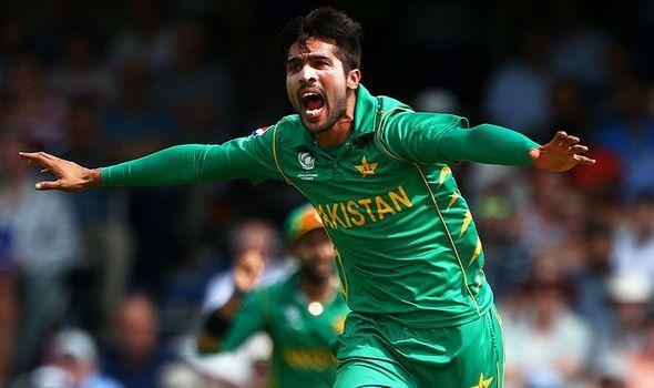विकेट लेने के बाद जश्न मनाते मोहम्मद आमिर!