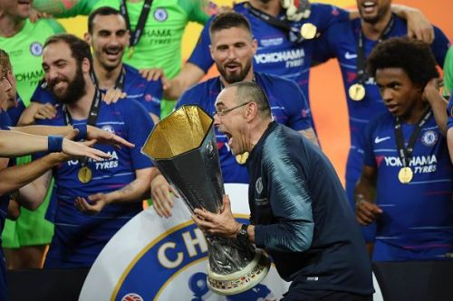 The Europa League was Sarri's first trophy as a manager