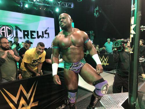 Apollo Crews returned to NXT to face Kushida