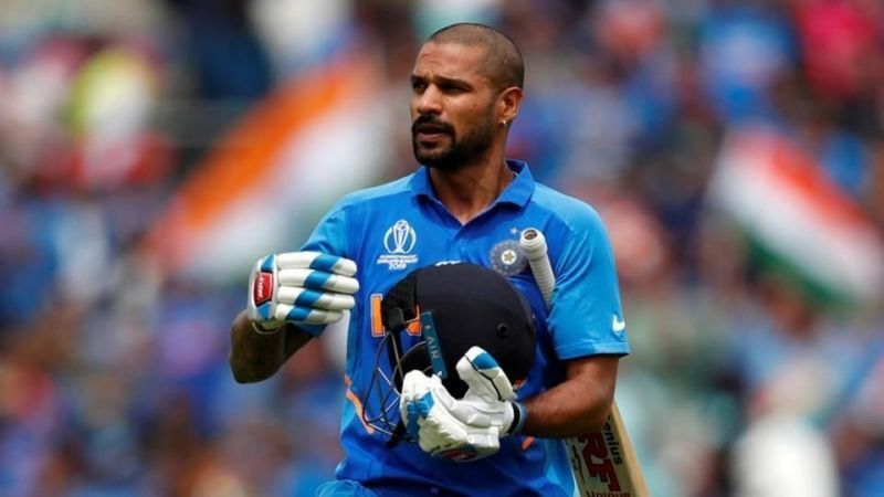 Shikhar Dhawan suffered a thumb injury during his innings against Australia