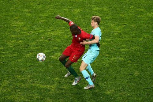 Portugal's midfielders negated the threat of De Jong