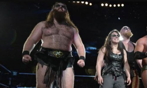 Killian Dain and Nikki Cross with SAnitY