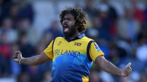 Lasith Malinga during th World Cup 2019