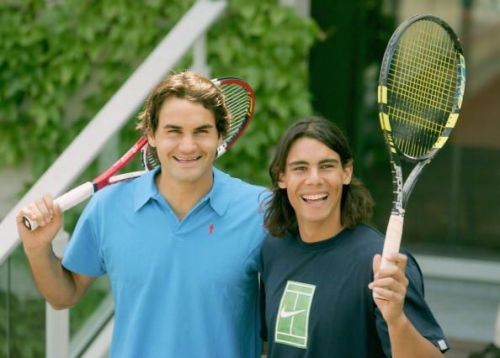 Federer and Nadal, the two men with the most Grand Slam titles in singles tennis first played each other in an ATP event over 15 years ago, at the 2004 NASDAQ-100 Open