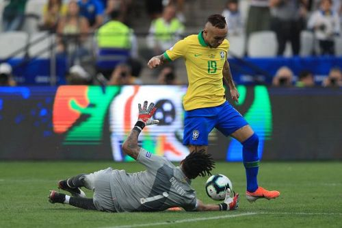 Gremio's Everton has stepped up brilliantly for Brazil in Neymar's absence