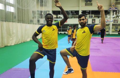 Victor Obiero (L) and Rahul Chaudhari (R) will be two key players for the Tamil Thalaivas.