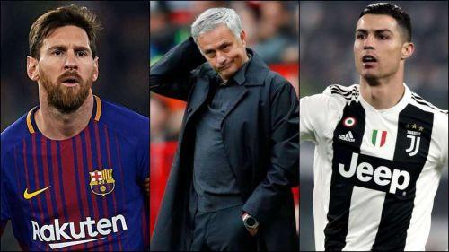 Jose Mourinho names Messi, Mane, and Salah as his forwards of this season's Champions League, snubbing Ronaldo