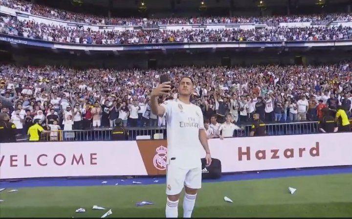 Hazard is officially at the Santiago Bernabeu.