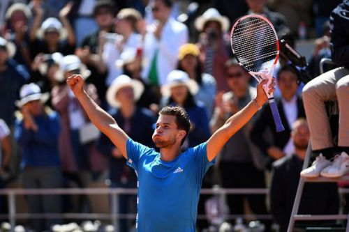2019 French Open - Thiem is ecstatic after his win over Novak Djokovic