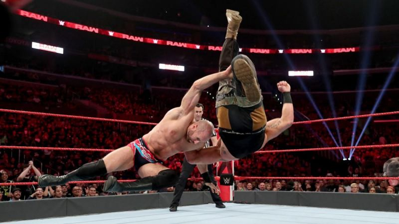 Cesaro did the unthinkable and lifted Braun on his shoulders
