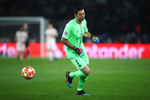 Gianluigi Buffon in Paris Saint-Germain outfit