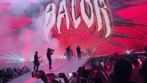 One of the best moments of the show was Finn Balor's entrance for the match.