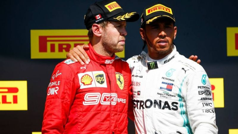 The podium was subjected to repeated boos and the fans were unanimously not in favour of the penalty given to Vettel