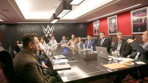 Image result for wwe writer's meeting