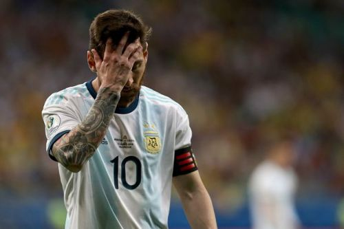 Messi cut a disgruntled figure as Argentina lost their opening game.