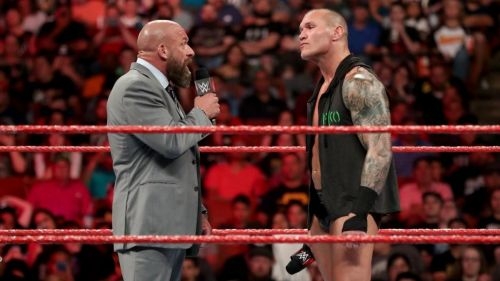 What will happen when Orton and Triple H lock horns?