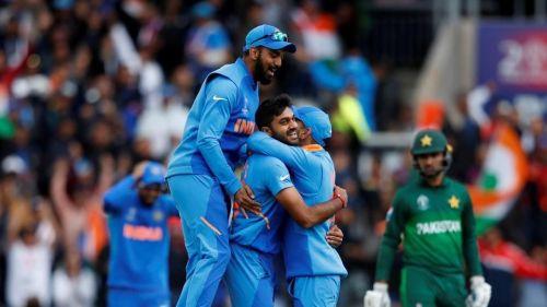 Vijay Shankar took the wicket in his very first ball