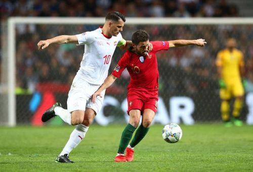 Bernardo Silva (right) was Portugal's best player barring Cristiano, while Swiss captain Xhaka struggled