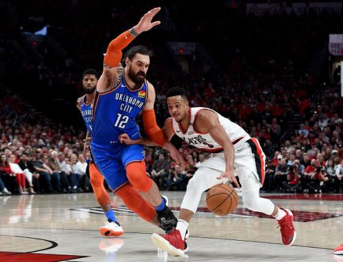 The Oklahoma City Thunder are willing to part with their starting center
