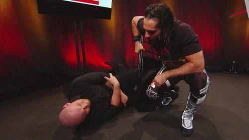 Seth Rollins is attacking wrestlers from behind