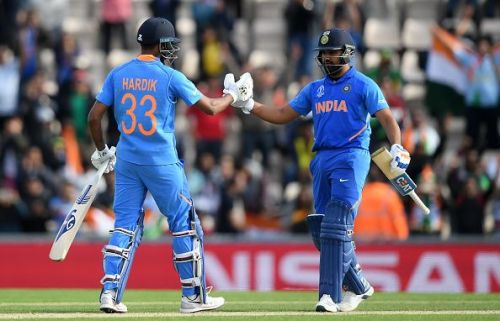 Hardik Pandya finished the match with a four