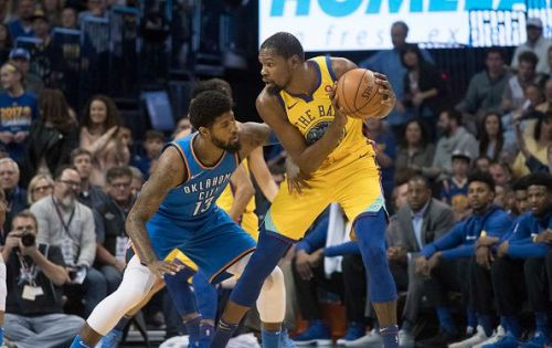 Paul George's defense on Kevin Durant