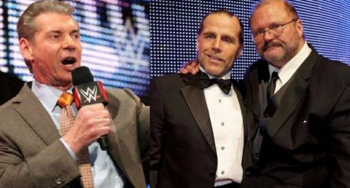 Vince McMahon, Shawn Michaels, and Arn Anderson