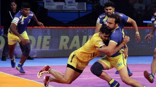 Manjeet Chhillar's role in the left cover will be crucial for Tamil Thalaivas' defense.