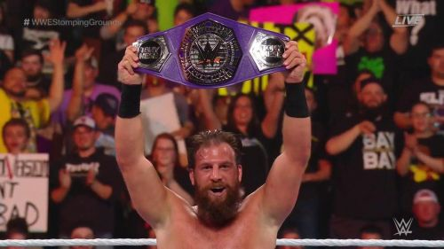 Gulak was crowned as the new Cruiserweight champion at Stomping Grounds