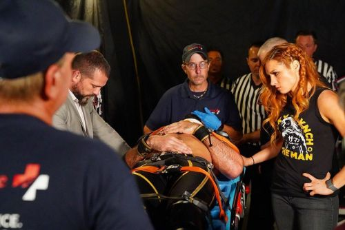Becky Lynch headed to the hospital with Seth Rollins
