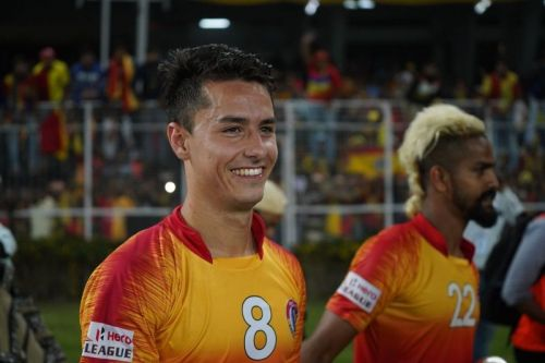 Colado joined East Bengal last season and had a fair display of his skills and goal-scoring capability (Image: Sportskeeda)
