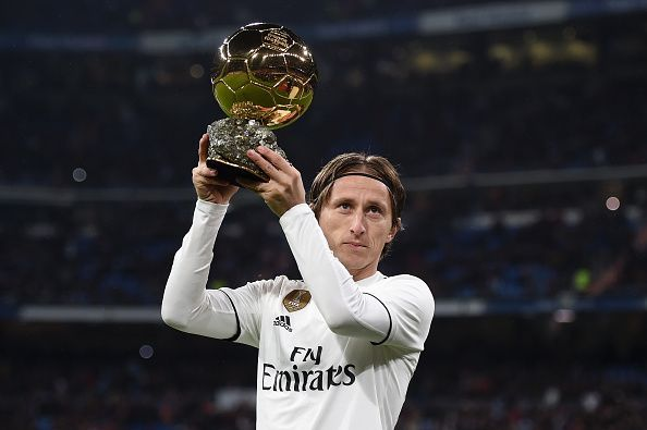 Modric claimed his first Ballon D