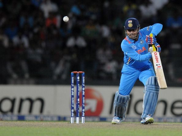 Virender Sehwag set the tone for India in the 2011 World Cup by scoring 175 runs against Bangladesh