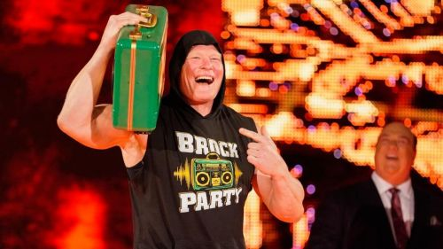 Brock Lesnar is cashing in his MITB contract this Monday on RAW