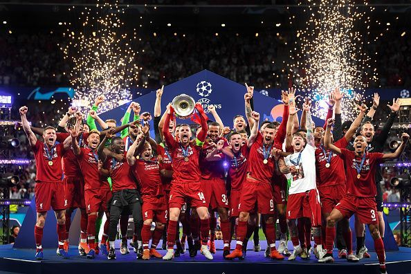 Liverpool, champions of the UEFA Champions League