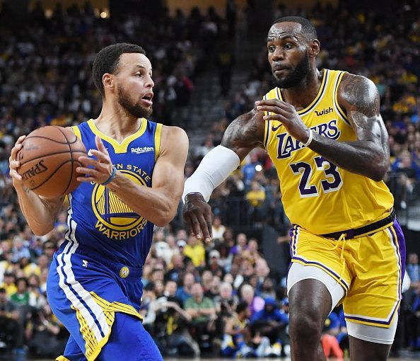 Steph Curry and LeBron Jame