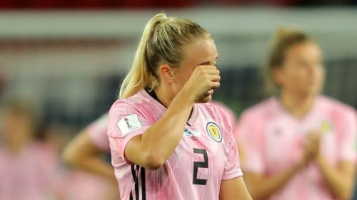 Scotland's Kirsty Smith after her side were knocked out of the Women's World Cup
