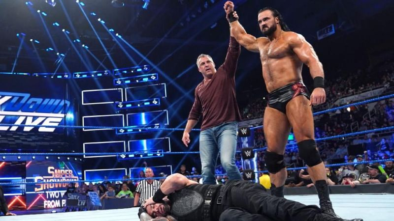 Roman Reigns is finding it difficult to tackle McIntyre and McMahon alone