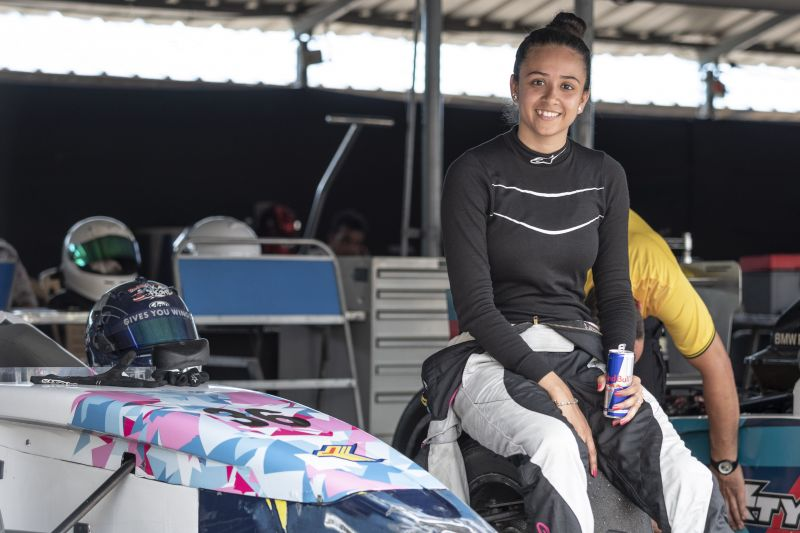 Mira Erda was the youngest Formula 4 female driver in JK Tyres Championship in 2014