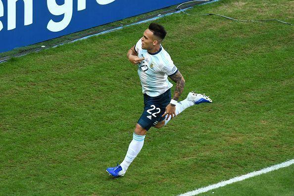 Lautaro Martinez scored Argentina
