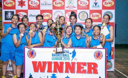 Nepal Police Club won the women's title of Nepal Basketball League 2019