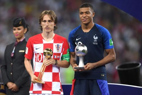 Modric and MbappFrance v Croatia - 2018 FIFA World Cup Russia Final