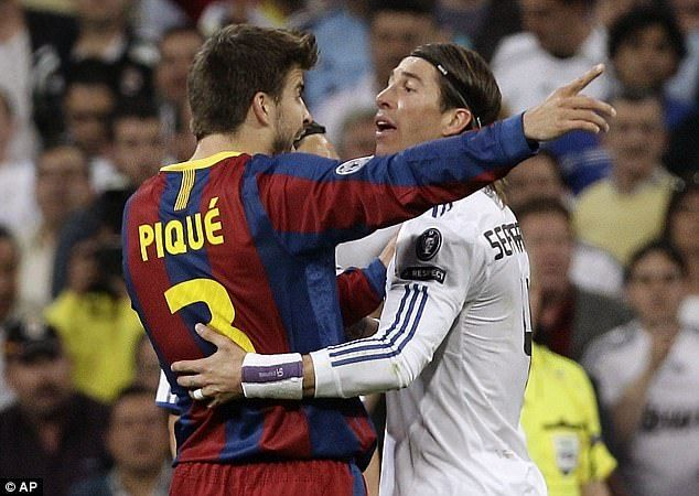 Gerard Pique has had some heated moments on the pitch against Real Madrid.