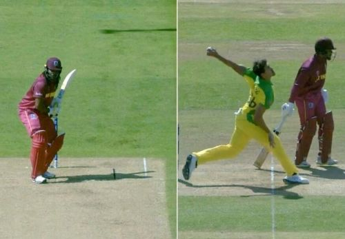 The ball before Chris Gayle's wicket was a no-ball