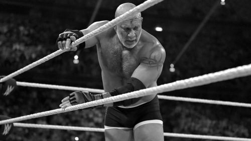 Could Goldberg put someone over before retiring into the night?