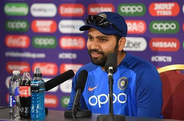 Image result for rohit sharma press conference
