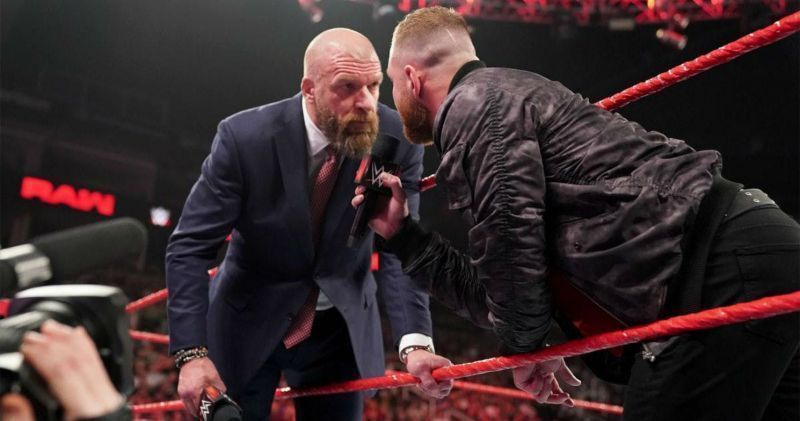 Triple H with Jon Moxley on Raw